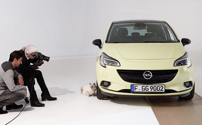 Choupette Lagerfeld voor Opel Corsa
