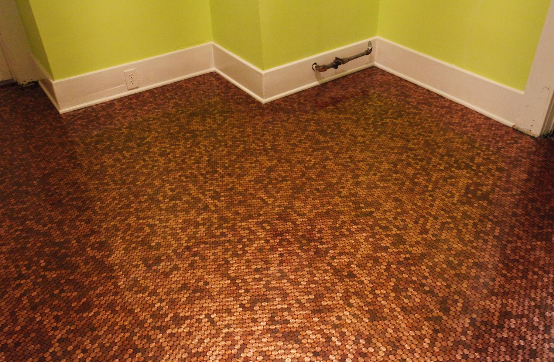 Copper Coloured Bathroom Tiles