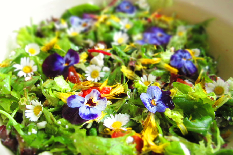 Recept flower power salade - Daily Cappuccino - Lifestyle Blog