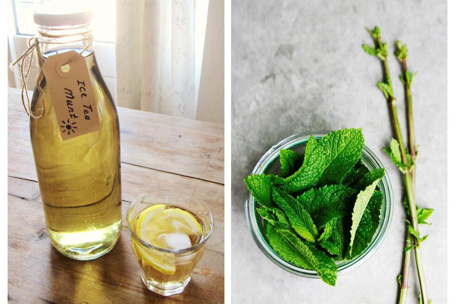 fresh mint tea - daily cappuccino - lifestyle blog
