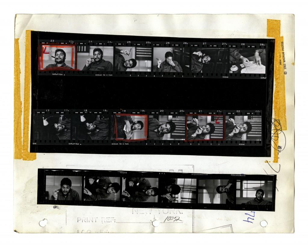 •Ernesto 'Che' Guevara. Havana, Cuba, 1963. Contact Sheet © Rene Burri / Magnum Photos