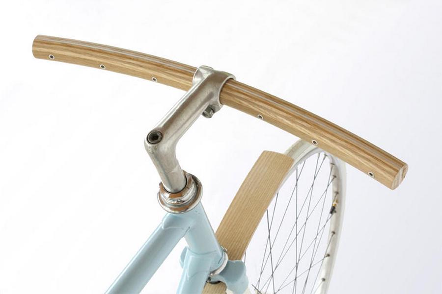 Houten fietsstuur - Daily Cappuccino - Lifestyle Blohg