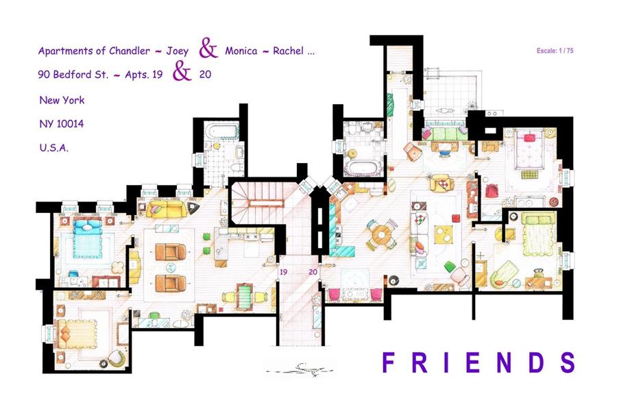 plattegrond tv-serie tv floorplan - daily cappuccino - lifestyle blog