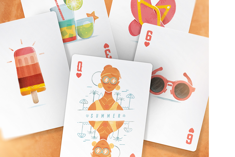 summer playing cards - daily cappuccino - lifestyle blog