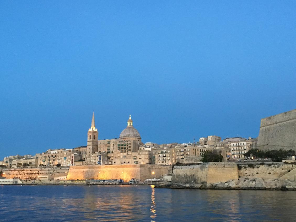 Malta bij het vallen van de avond 1