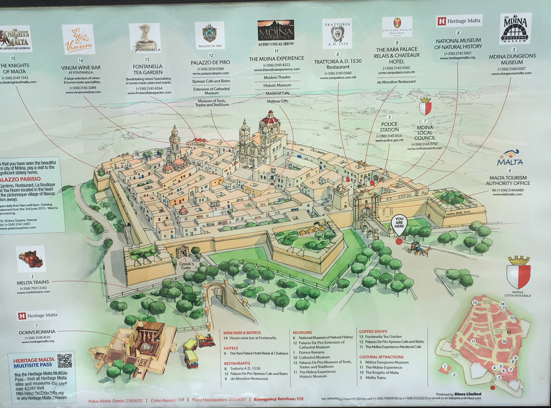 Mdina plattegrond 1