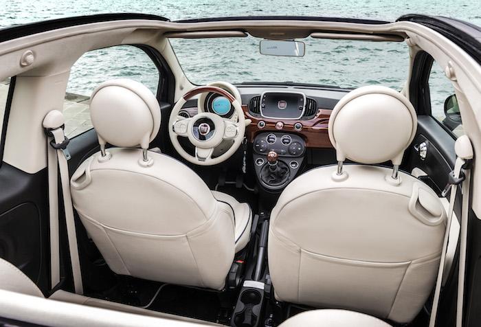 Fiat 500 Riva bovenaf