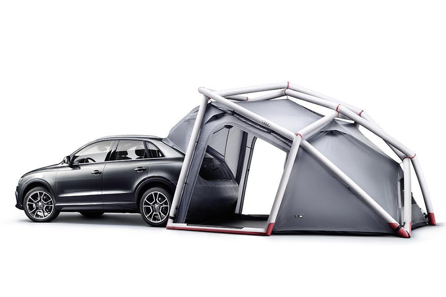 Audi opblaasbare tent - Daily Cappuccino - Lifestyle Blog