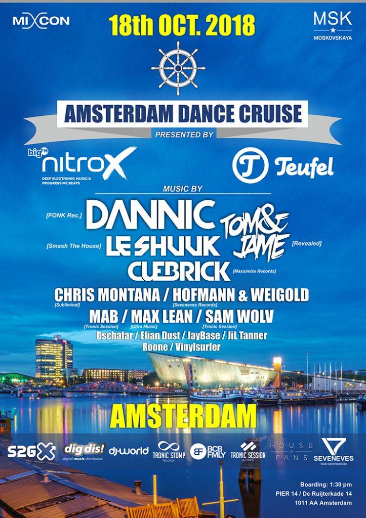 Winactie: 2x2 tickets voor de Amsterdam Dance Cruise @ ADE 2018