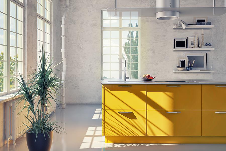 Dit zijn dé keukentrends voor 2019 - Gele keuken