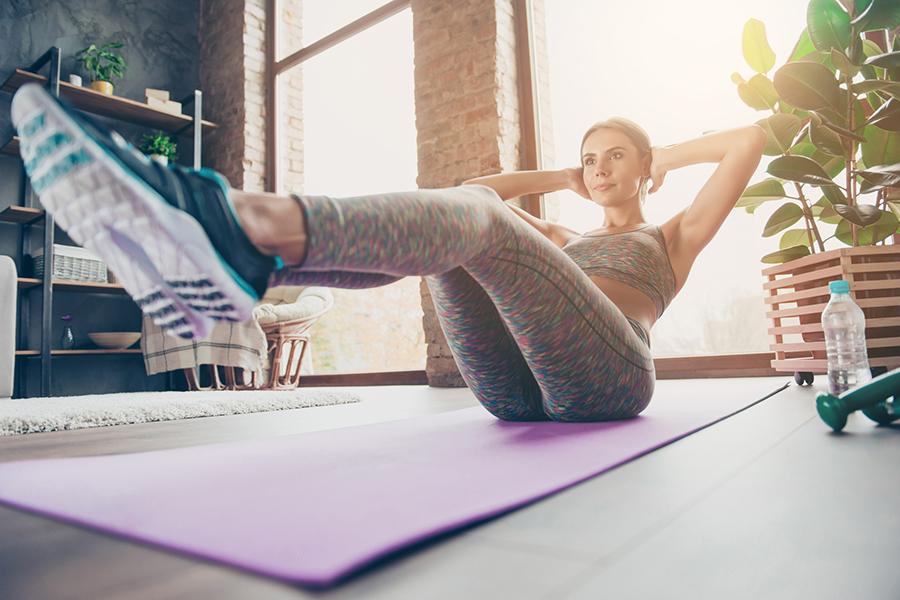 Winterse workouts voor in de woonkamer