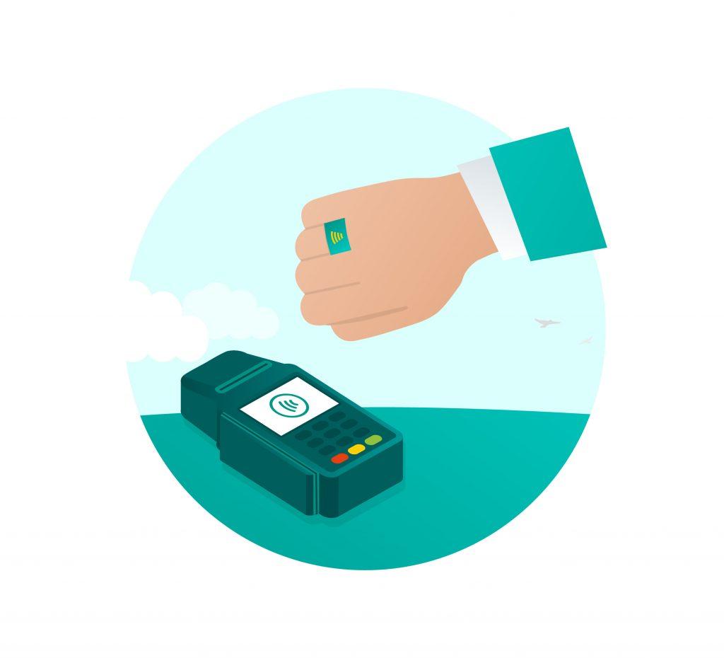 Betalen met een pin ring