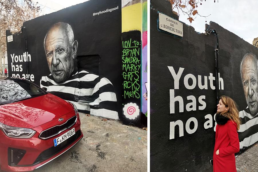 Op een arty (en snelle) roadtrip door Barcelona met de Kia Proceed