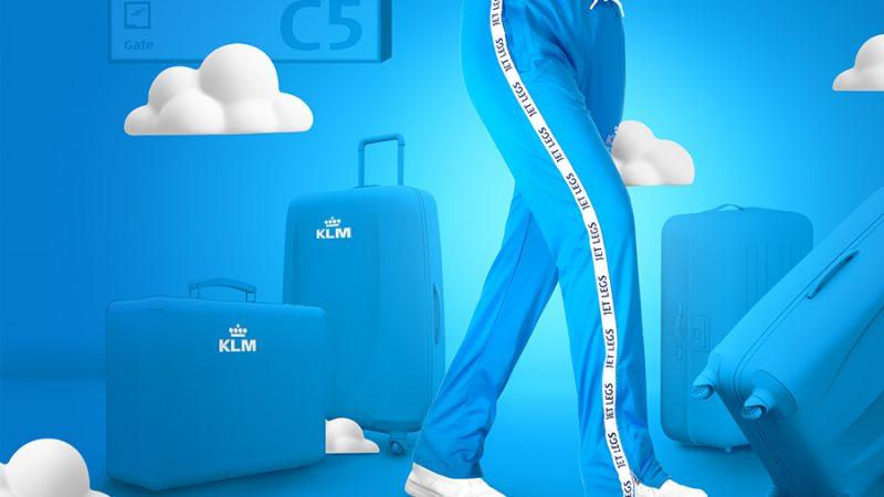 High fashion in het vliegtuig: KLM komt met Jet Legs-trainingsbroek