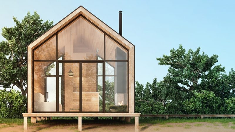 7 x tiny houses in eigen land