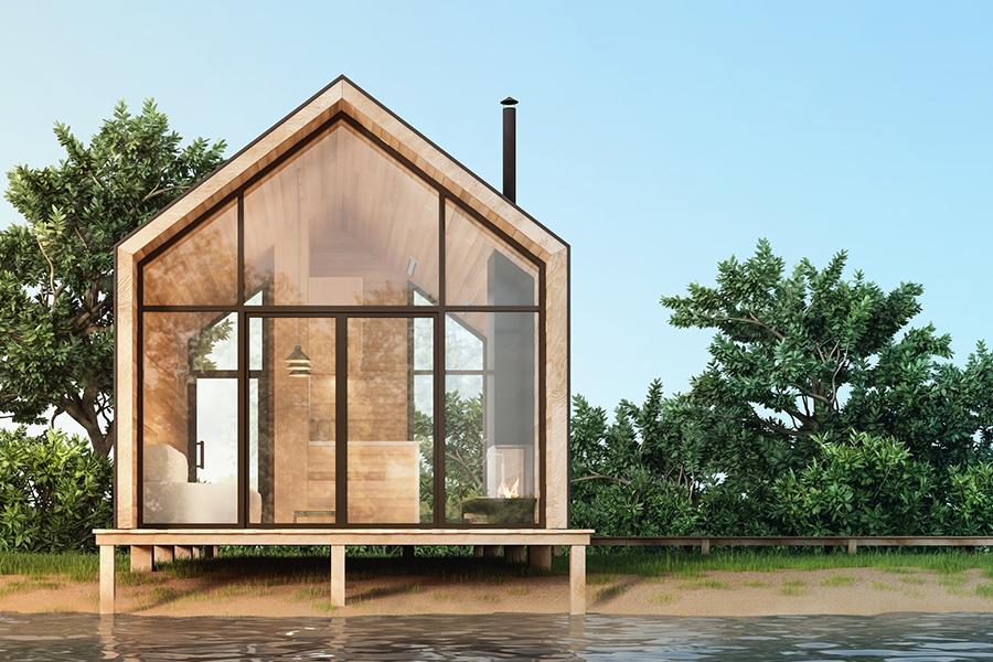7 x tiny houses in eigen land