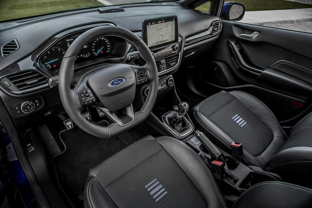 De nieuwe Ford Fiesta ST-Line is een sportieve supermini in mild hybride vorm
