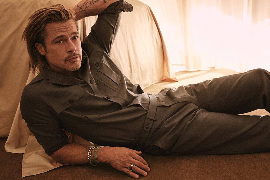 Steel de looks: Hollywoodster Brad Pitt X modemerk Brioni